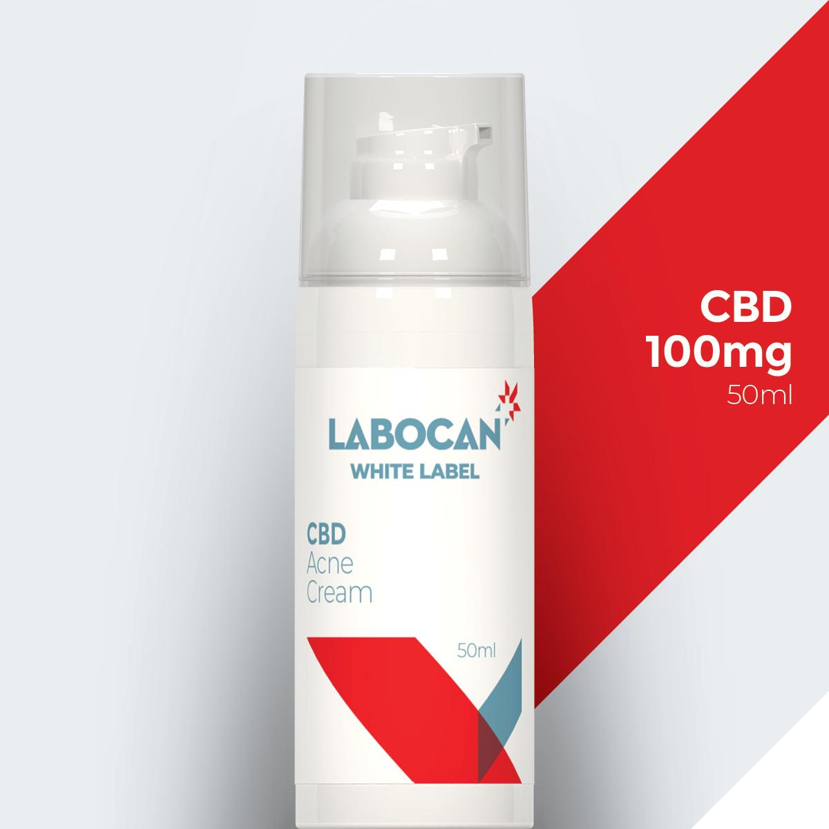 Labocan Crema para el acné con CBD de marca blanca