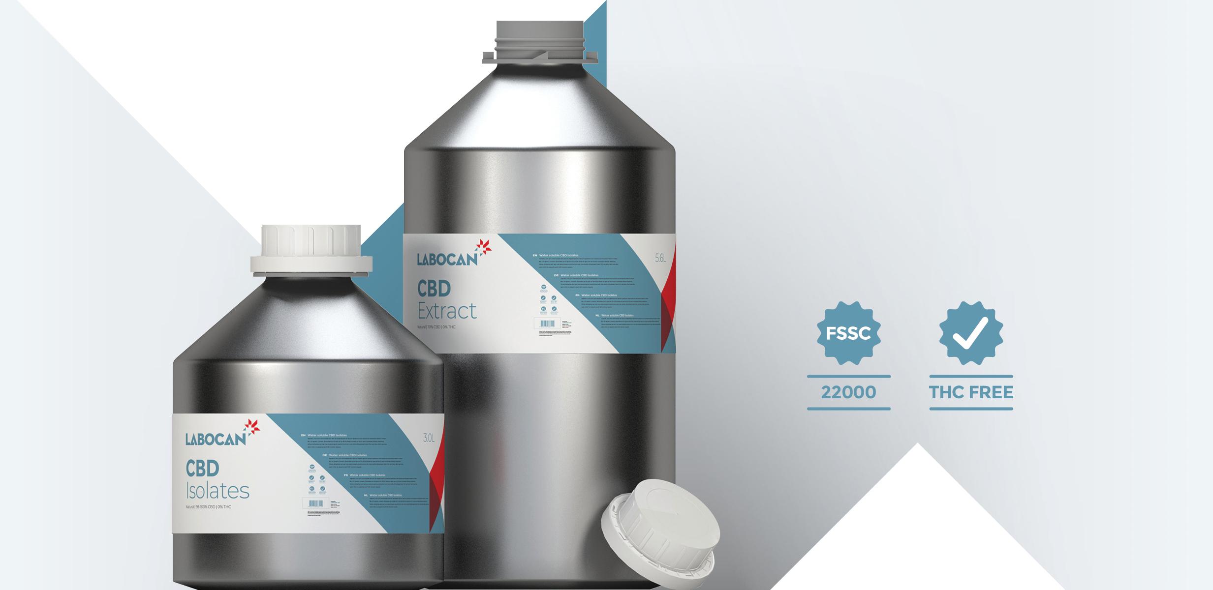 Aislados de CBD y Extracto de CBD libre de THC